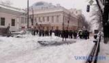Протестующие под верховной Радой перекрыли движение транспорта