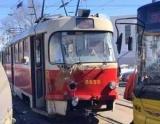 В Train трамвай врезался в троллейбус